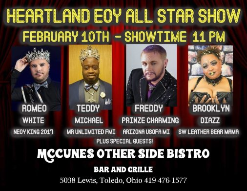 Show Ad | Heartland EOY All Star Show | McCunes Other Side Bistro (Toledo, Ohio) | 2/10/2018