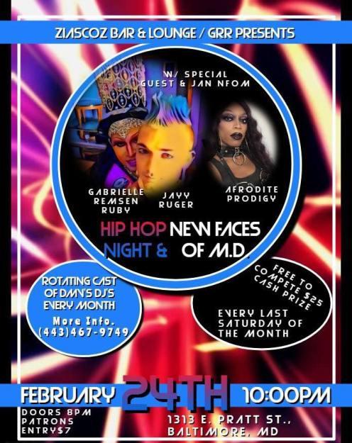 Show Ad | Ziascoz Bar-Loung (Baltimore, Maryland) | 2/24/018