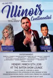 Show Ad   Miss Illinois Continental and Mr. Illinois Continental   The Baton Show Lounge (Chicago, Illinois)   3/12/2018