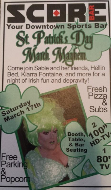 Show Ad | Score Bar (Columbus, Ohio) | 3/17/2012