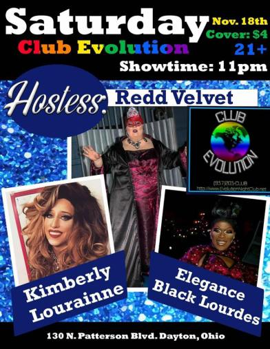 Show Ad | Club Evolution (Dayton, Ohio) | 11/18/2017