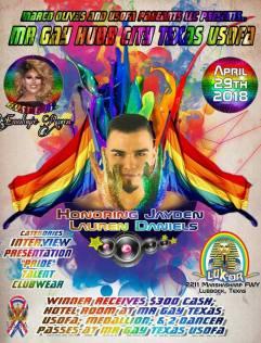 Show Ad | Mr. Gay Hub City USofA | Luxor (Lubbock, Texas) | 4/29/2018