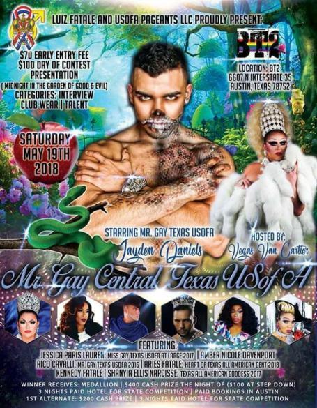 Show Ad | Mr. Gay Central Texas USofA | BT2 (Austin, Texas) | 5/19/2018