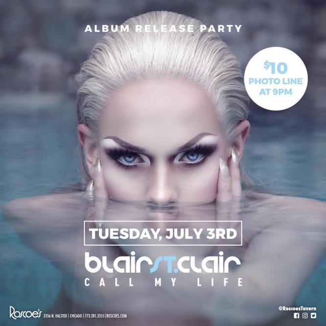 Show Ad | Blair St. Clair Album Release Party | Roscoe's Tavern (Chicago, Illinois) | 7/3/2018