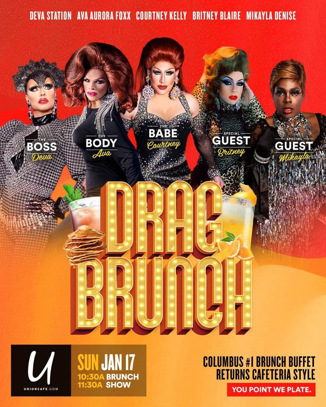 Ad | Drag Brunch | Union Cafe (Columbus, Ohio) | 1/17/2021