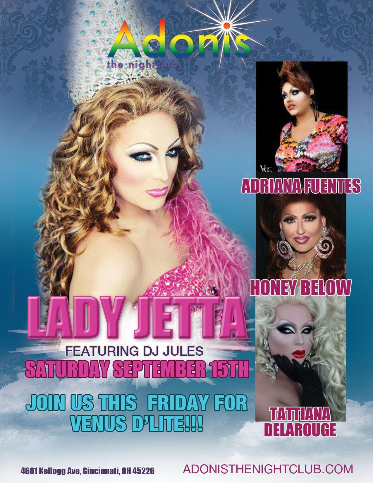 Ad   Adonis the Nightclub (Cincinnati, Ohio)   9/15/2012