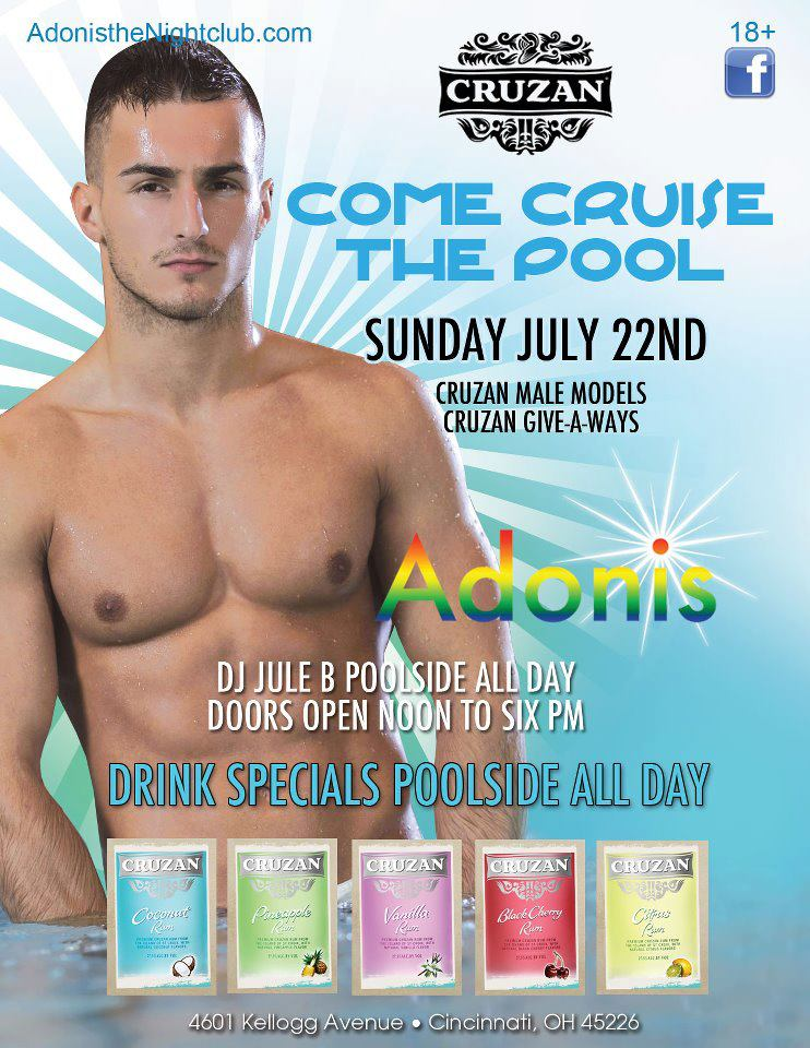 Ad   Adonis the Nightclub (Cincinnati, Ohio)   7/22/2012