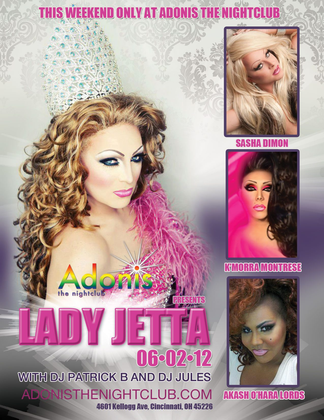 Ad   Adonis the Nightclub (Cincinnati, Ohio)   6/2/2012