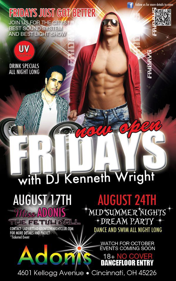Ad | Adonis the Nightclub (Cincinnati, Ohio) | 8/17 and 8/24/2012