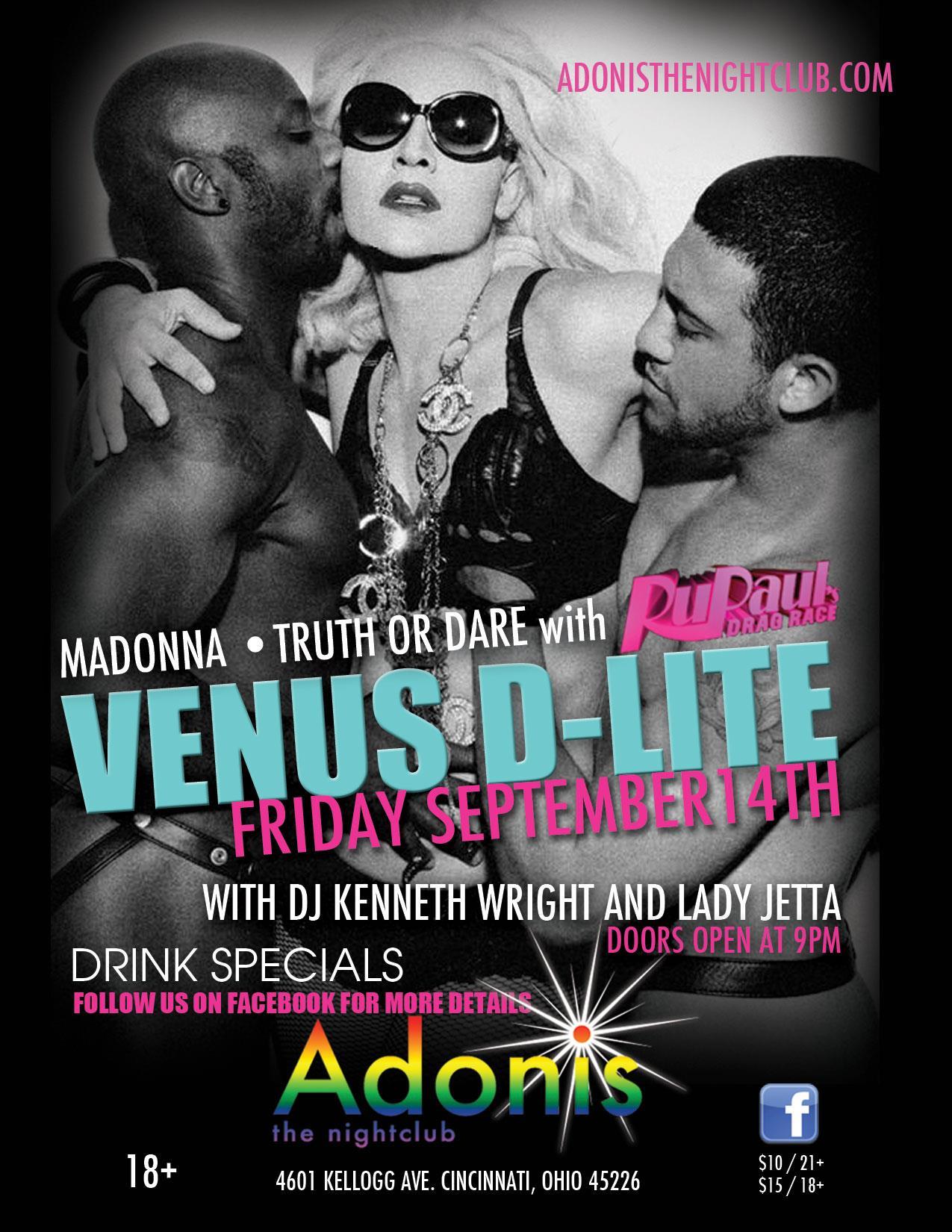 Ad   Adonis the Nightclub (Cincinnati, Ohio)   9/14/2012