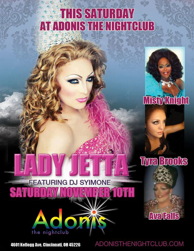 Ad | Adonis the Nightclub (Cincinnati, Ohio) | 11/10/2012