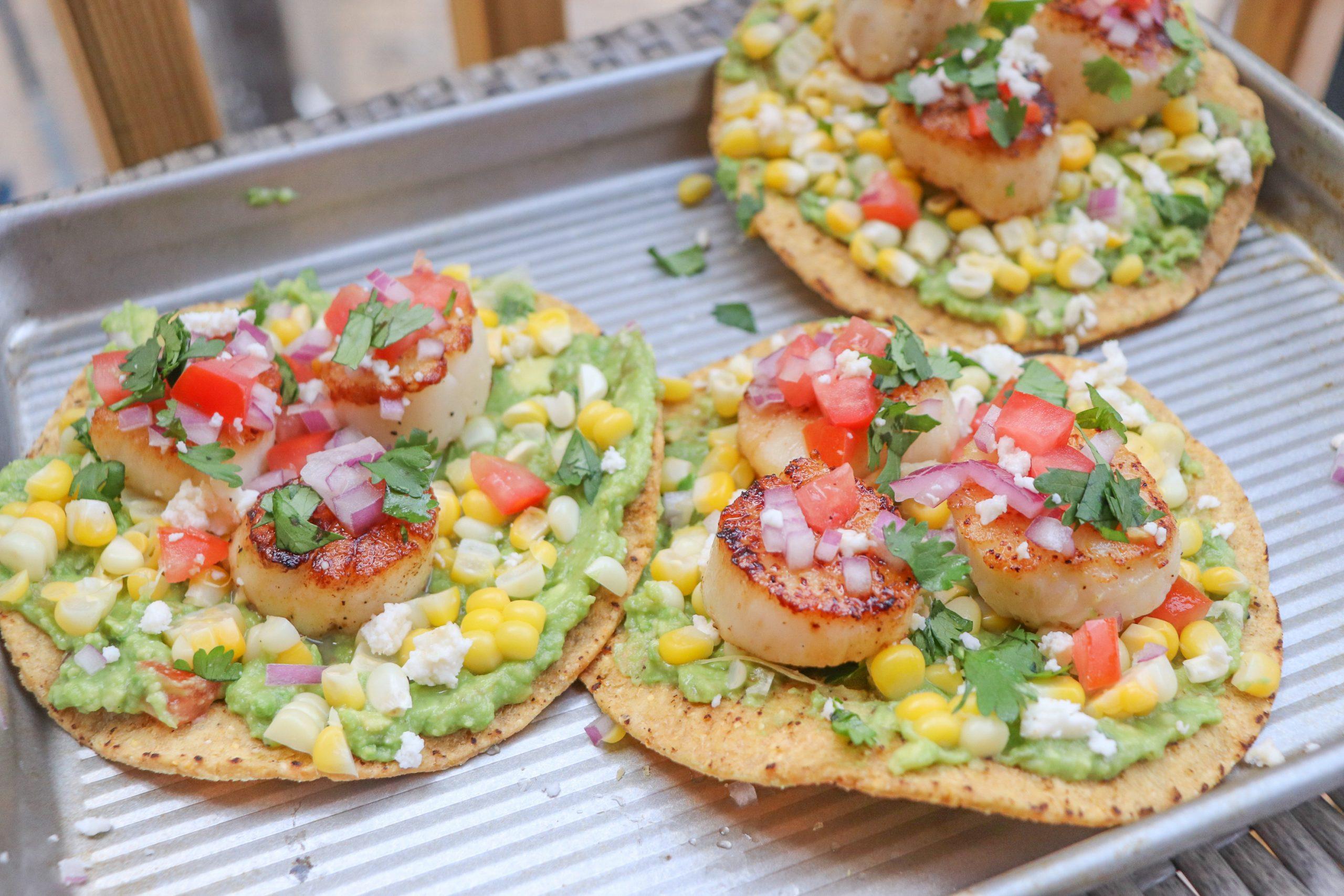 Grilled Scallop Tostadas