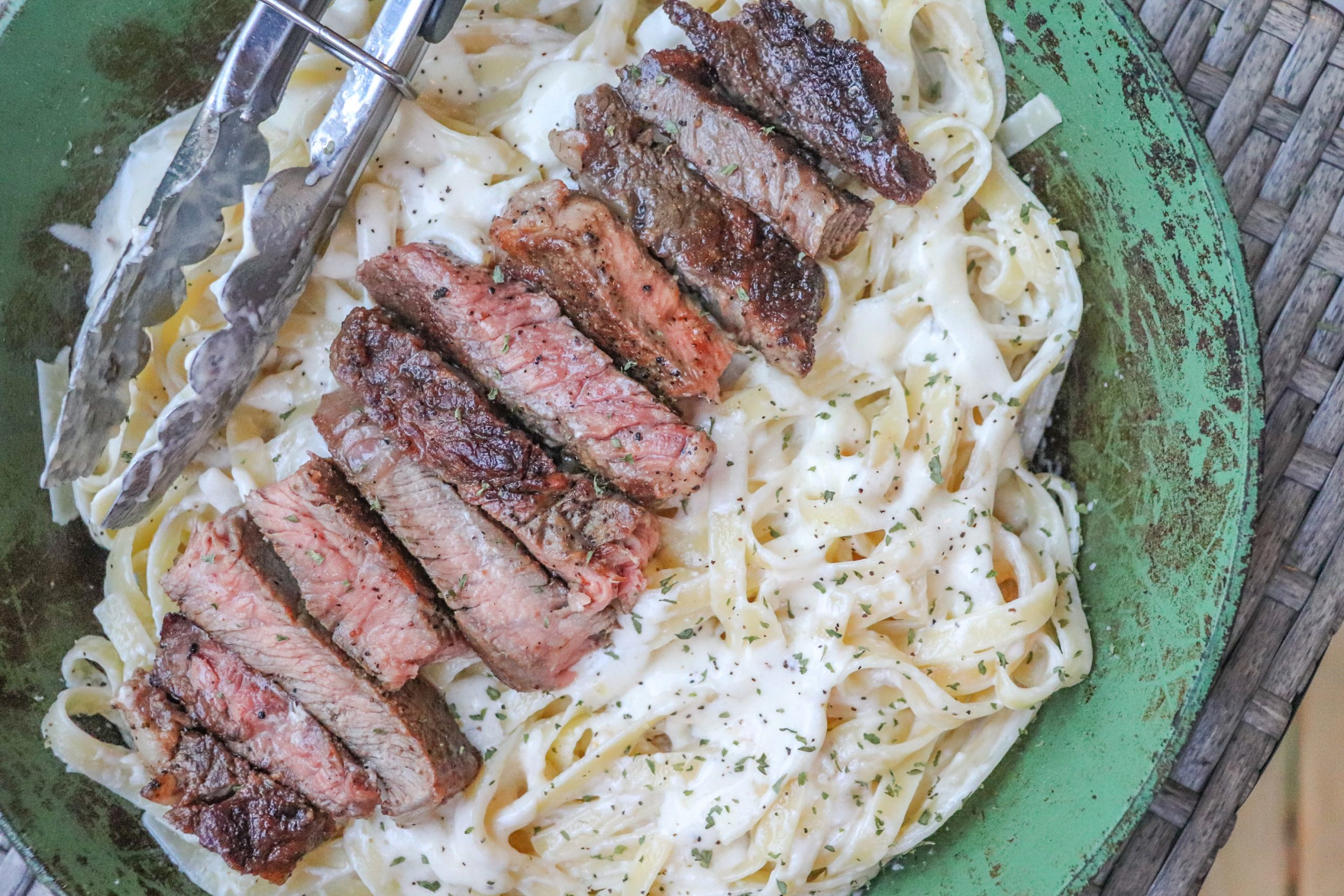 Steak Fettuccine Alfredo
