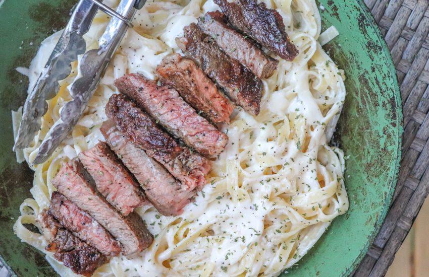 Steak Fettuccine Alfredo