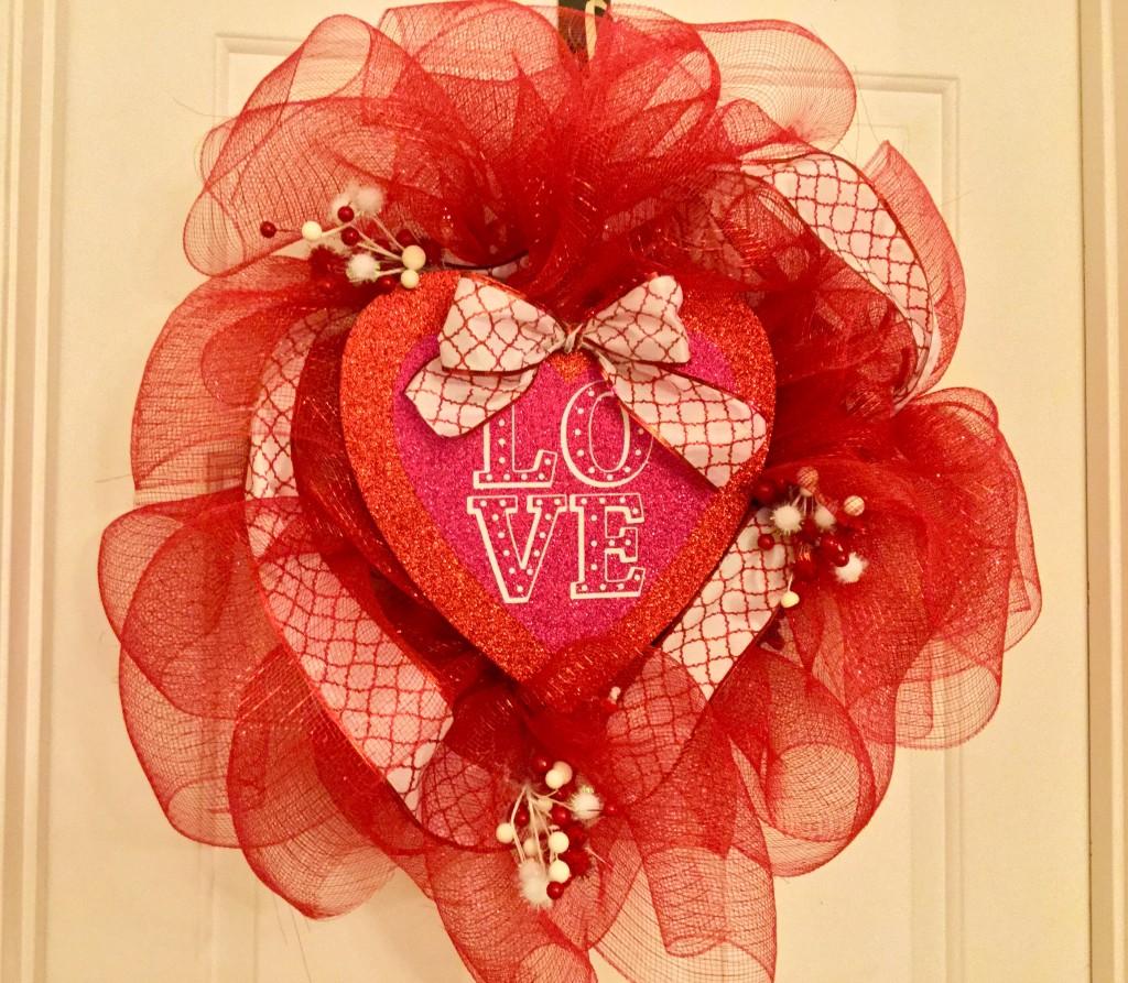 Valentines Day Dollar Tree Deco Mesh Wreath Our Crafty Mom
