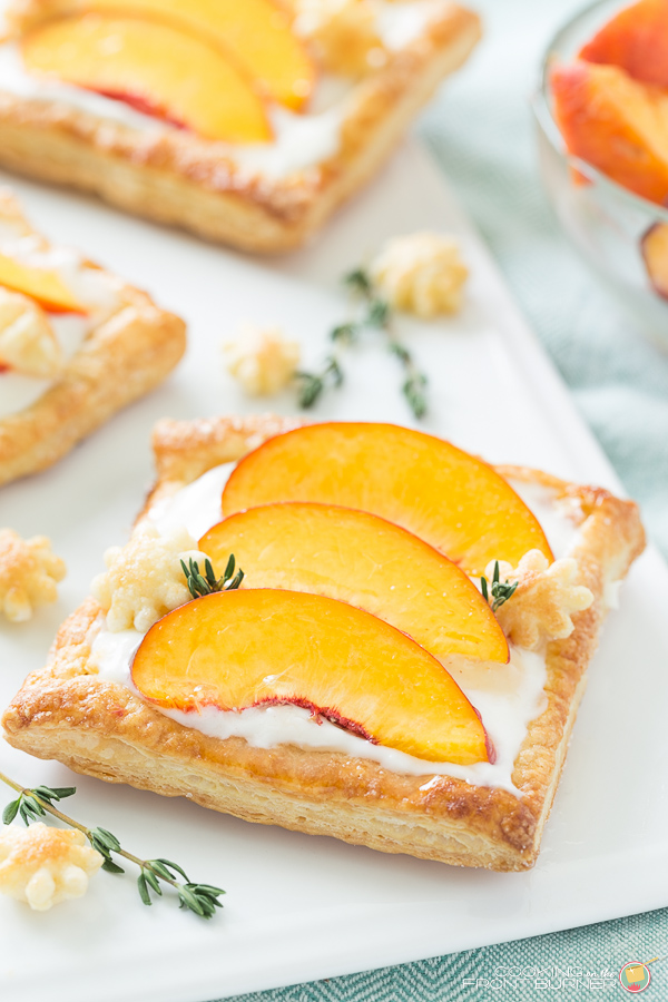 Peach Tart with Cream Cheese and Thyme - Cooking On The Front Burners - HMLP 144 Feature