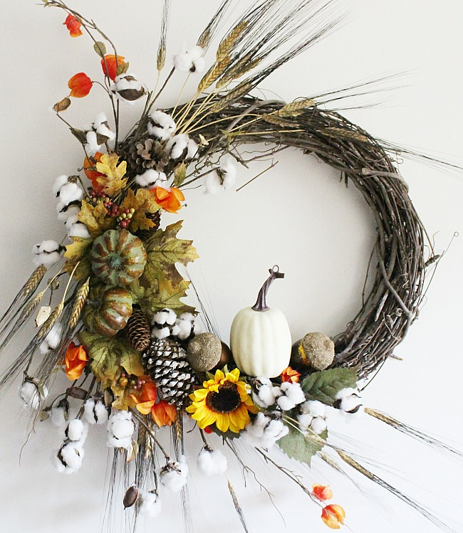 Diy Rustic Fall Grapevine Wreath Centsible Chateau