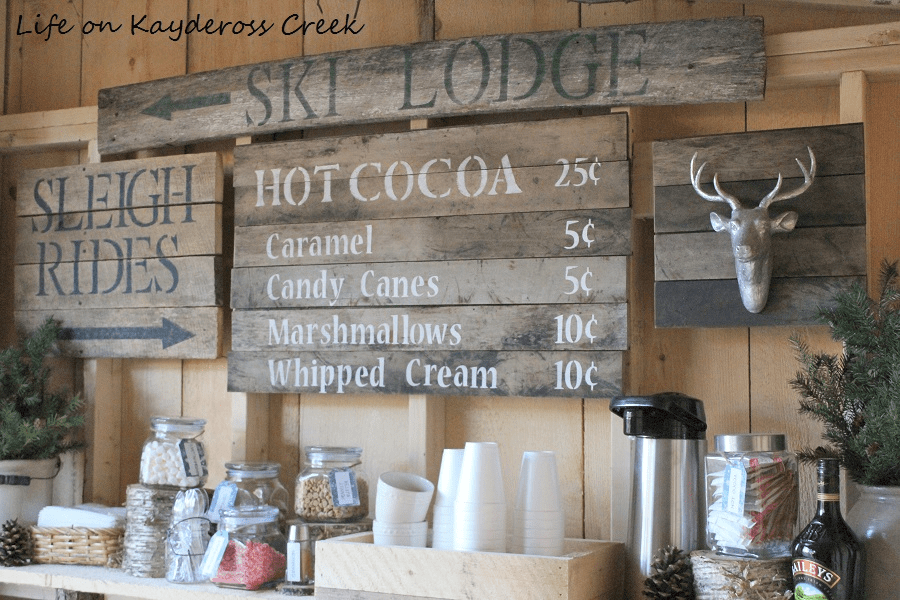 25 Farmhouse Style Hot Cocoa Bars - Centsible Chateau #farmhousestyle #hotcocoabars #hotchocolatebars 3.jpg