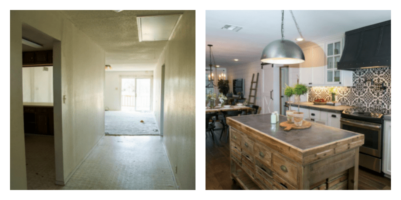 25 Favorite Fixer Upper Before And After Room Makeovers Centsible Chateau #fixerupper #beforeandafter #roommakeovers
