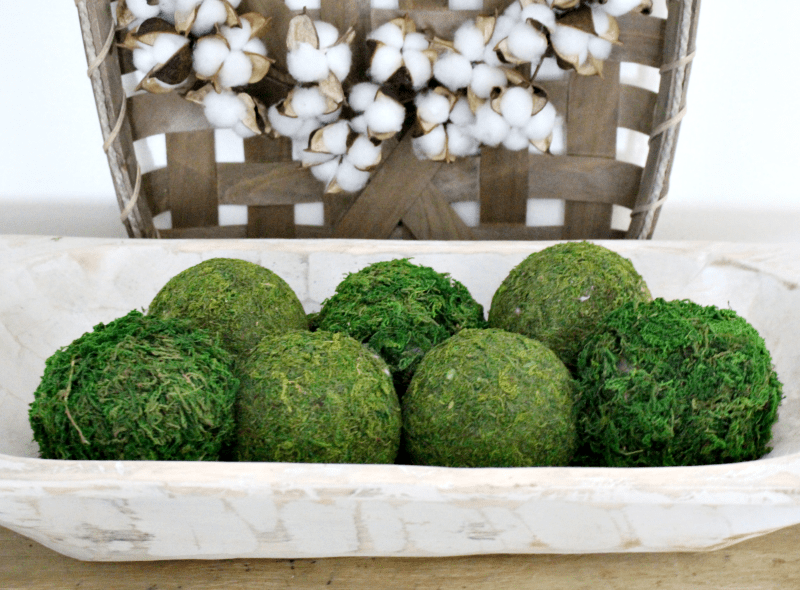 How To Make Gorgeous Moss Balls From Dollar Store Finds Centsible Chateau #mossballs #dollarstore #craftsunder25