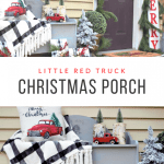 Little Red Truck Christmas Decor For Your Front Porch Our Crafty Mom