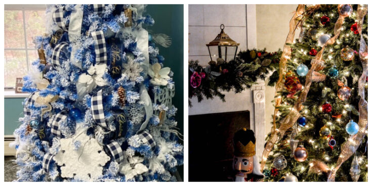 Christmas tree collage of 2