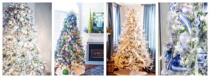 Christmas tree decor blog hop collage