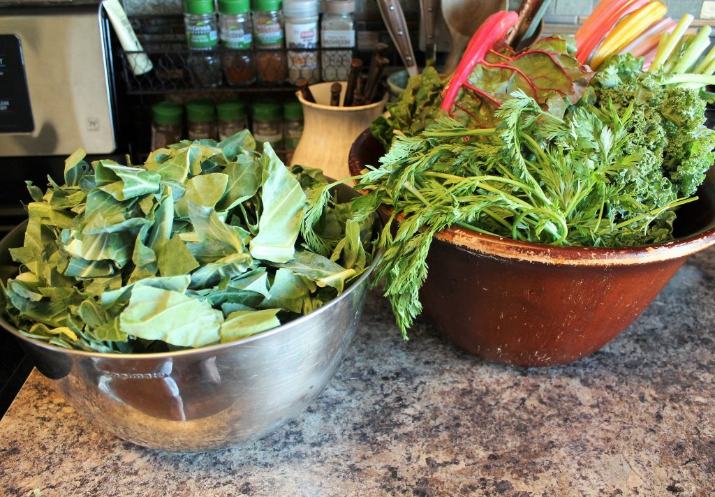Greens for the gumbo
