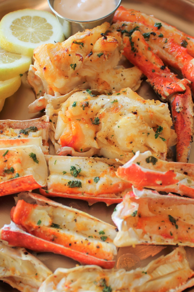 Roasted Crab legs with Sriracha butter