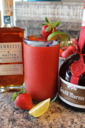 Strawberry Hennessy Margaritas