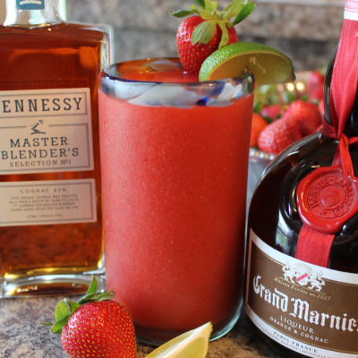 Strawberry Hennessy Margaritas