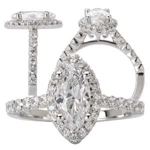 marquise cut diamond semi mount engagement ring