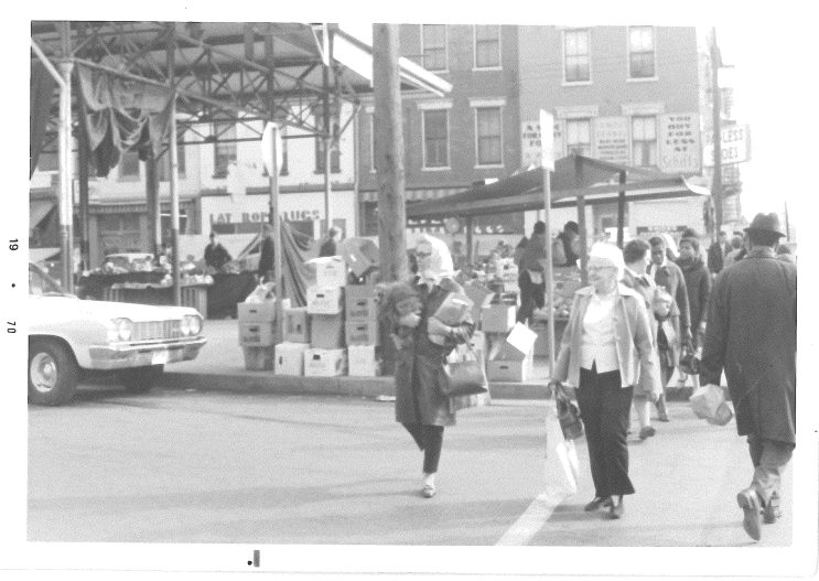 """Findlay market in 1970- Found in a folder marked """"History"""""""