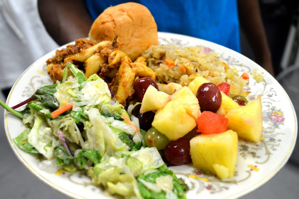 plate full of food for hunger action month
