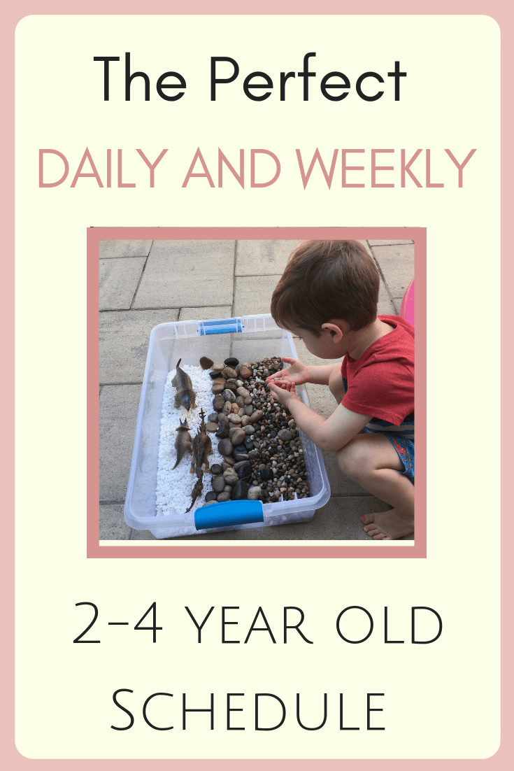 toddler and preschooler daily and weekly schedule