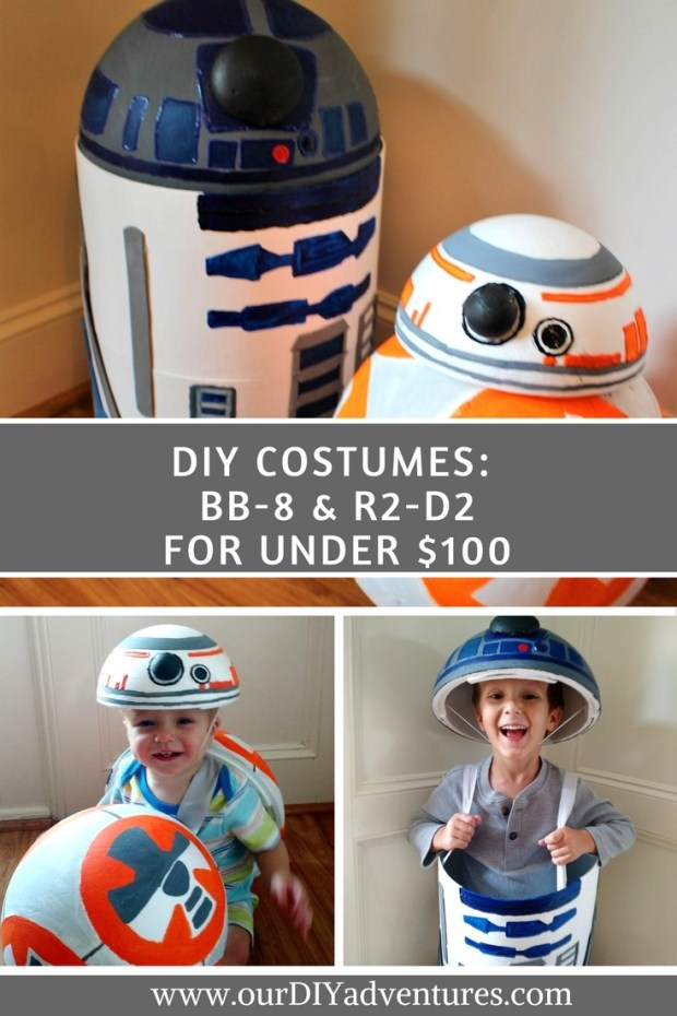 DIY R2D2 and BB8 Costumes