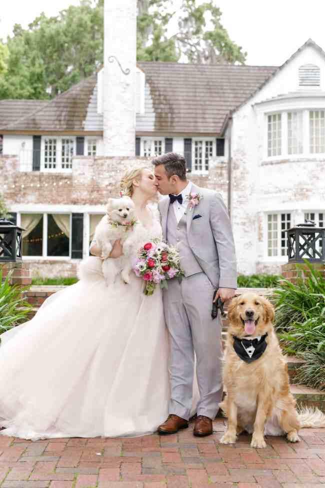 Peachtree house orlando wedding - 2 dogs