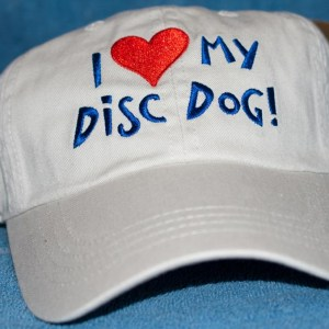 I heart my disc dog hat