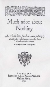 Much Ado About Nothing quarto