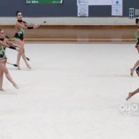 Medio centenar de ximnastas participaron no IX Torneo Primavera de Rítmica
