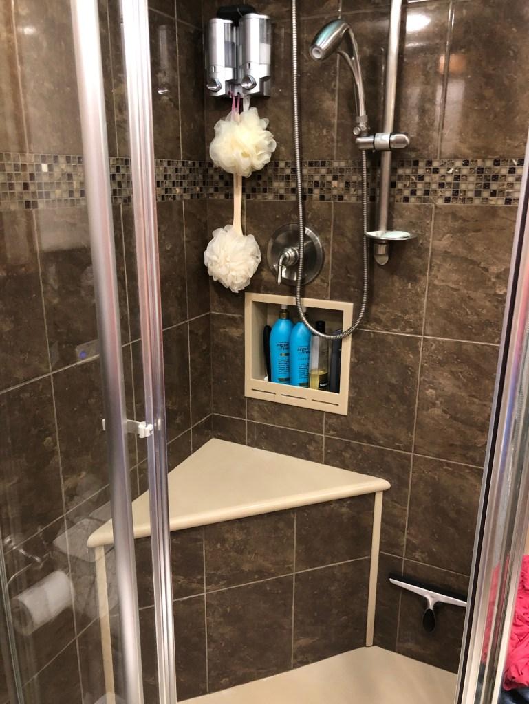 RV shower accessories