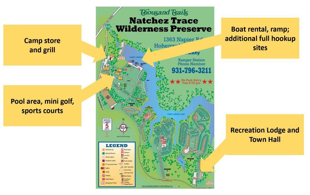 Natchez Trace Wilderness Preserve Map