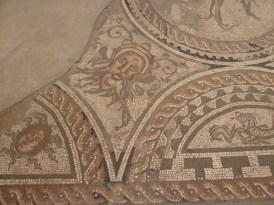 Tiled floor in Corinium Museum Cirencester