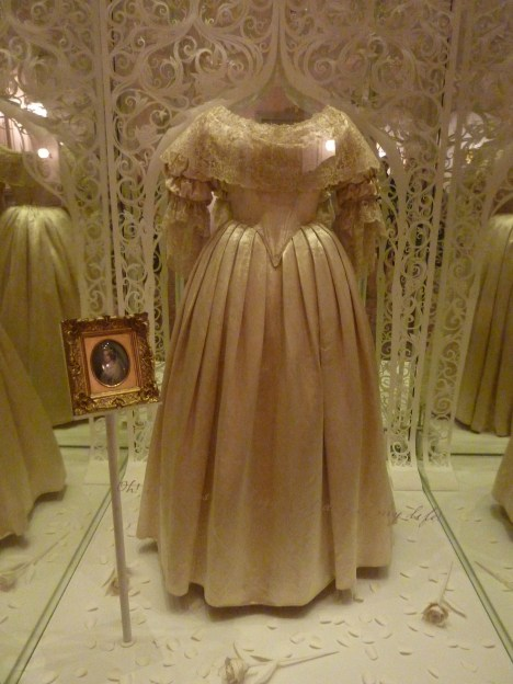 Queen Victoria's wedding dress in Kensington Palace