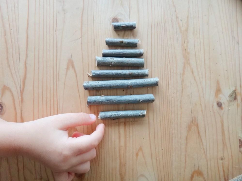 DIY Mini Christmas Tree Rustic Stick Ornaments Our Everydays DIYblog Mom Blogger (5)