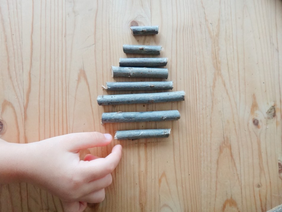 DIY Mini Christmas Tree Rustic Stick Ornaments Our Everydays DIYblog Mom Blogger (5)