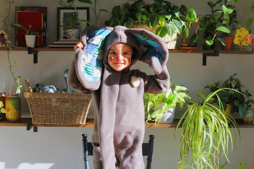 Our Everydays Edmonton Mom Blogger DIY Elephant Halloween Costumes (19)