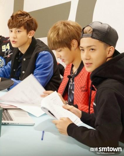 Chanyeol, Kris, Sehun
