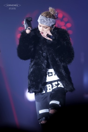 Kris having a good time rapping