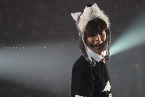 Luhan in a wolf hat